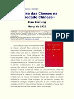 Mao Tsetung - Análise das Classes na Sociedade Chinesa
