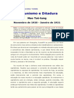 Mao Tsetung - Comunismo e Ditadura
