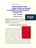 Mao Tsetung - Relatório Sobre uma Investigação Feita no Hunan a Respeito do Movimento Camponês