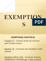 Exemptions Allowed in Indian Income Tax Law