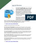 Pro Trade Copycat Review