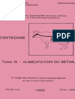 Zootechnie Tome IV Alimentation Du Betail - Usaid