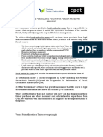 Responsible Purchasing Policy for Forest Products