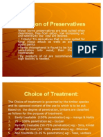Selection of Preservatives & Types of Vessels