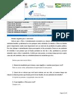 POLO NOVA TEBAS - AGRIMAR JOÃO CODO - ATIVIDADE  IV
