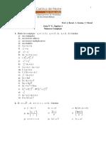 i Guia No 9 Algebra 1 - Numeros Complejos