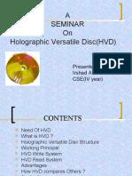 Holographic Versatile Disc(HVD