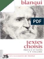 Auguste Blanqui, Textes Choisis - Histoire