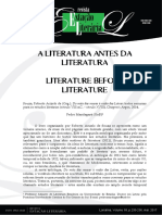 A literatura antes da literatura
