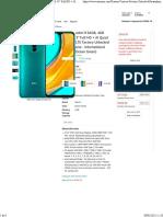 Amazon.com Xiaomi Redmi 9 64GB, 4GB RAM, 6.53' Full HD + AI Quad Camera, LTE Factory Unlocked Smartphone - International Version (Ocean Green)