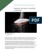Comment l'industrie du sucre a transféré le blâme sur la graisse