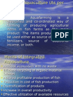 Integrated Aquaculture (as Per NACA)