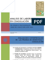 ANALISIS DE LABORATORIO EN COAGULACIÓN
