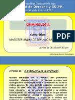 Criminologia-clase 9- Lecciones 19 y 20