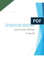 151016 IHF à Quimper Conception Des Laboratoires Presentation 2BC