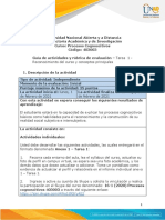 Guia de actividades y Rúbrica de evaluación Tarea 1 - Reconocimiento del curso y conceptos principales