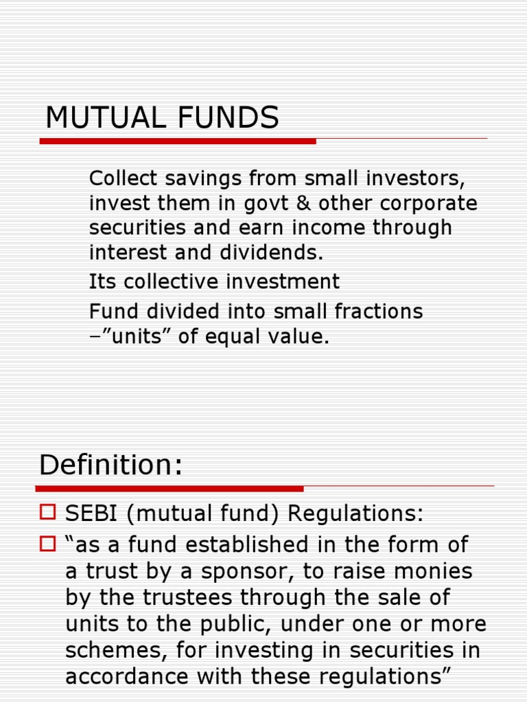 mutual funds | exchange traded fund | factoring (finance)