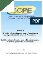 Critérios de Planejamento de Expansão - Ccpe-ctet056