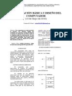 Arquitectura del computador ORGANIZACION BASICA Y DISEÑO DEL COMPUTADOR