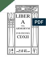 Liber A vel Armorvm - Edi‡Æo em Portuguˆs e Inglˆs
