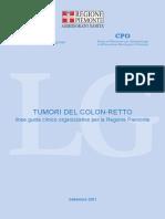 TUMORI DEL COLON RETTO REGIONE PIEMONTE
