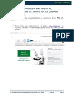 Procedimiento Para Tramites Del. Certificado de Sello Digital (Solcedi y Certisat)