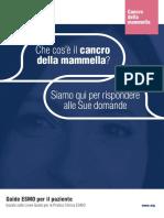CANCRO DELLA MAMMELLA GUIDA PER LA PAZIENTE