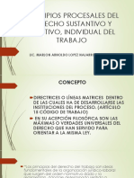 PRESENTACIÓN PRINCIPIOS PROCESALES DEL DERECHO DE TRABAJO Procesal Laboral I 2021 SECCIÓN F
