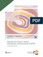 Mercado de trabajo. Tasas e indicadores socioeconómicos (EPH). INDEC.