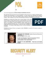Interpol Orange Notice Gadhafi