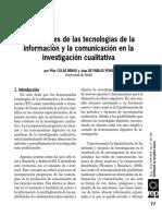 Aplicaciones de Las Tecnologías de La Información y La Comunicación en La Inv. Investigativa