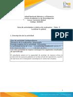 Guía de actividades y rúbrica de evaluación - Unidad 2 - Reto 3 - Localizar lo global