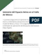 Rediseño del espacio aéreo en el Valle de México
