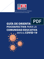 Guía de orientación psicoafectiva COVID 19