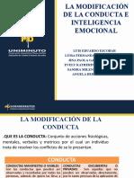 PRESENTACION MODIFICACION DE CONDUCTAS E INTELIGENCIA EMOCIONAL 1