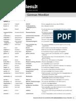 Br2e Pre-Int Wordlists German
