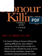 HONOUR KILLING PPT.