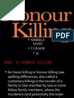 HONOUR KILLING PPT.