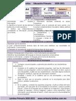 Marzo - 4to Grado Español (2020-2021)