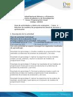 Guía de Actividades y Rúbrica de Evaluación -Tarea 4 - Solución de Modelos de Programación Lineal de Decisión y Optimización