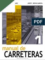 Manual de Carreteras Vol. 1 - Luis Bañon, José F. Beviá - 1ra Edición