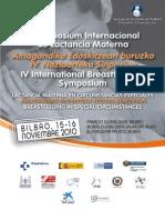 IV Simposium Internacional de Lactancia Materna