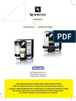 DeLonghi EN660.R Nespresso Lattissima user manual