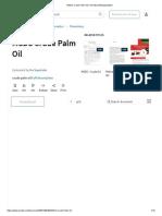 MSDS Crude Palm Oil _ Toxicity _ Biodegradation