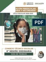 Sexta sesión Consejo Técnico Escolar 2021 en PDF