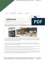 De Tapol, Benoit. Herramientas para diagnóstico conservación