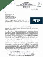 Letter to CS Telangana
