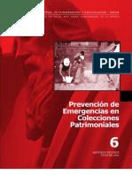 Eliazaga, J. Prevención emergencias en colecciones patrimoniales. 2002