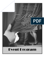 2011 Woman's Club of Ephrata Dinner Dance & Auction Event Program