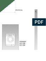 SIEMENS SIWAMAT XLS 1240 XLS 1040 Gebrauchs- und Aufstellanleitung XLS1240 XLS1040